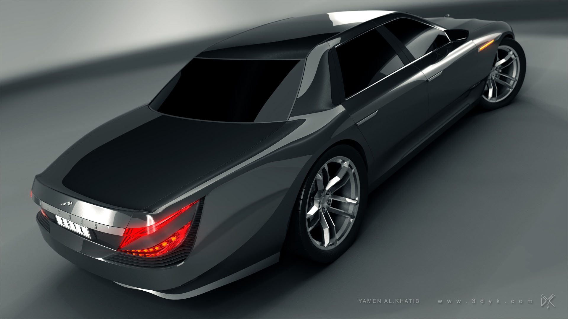 JAGUAR XJ Concept Car By Yamen Alkhatib.